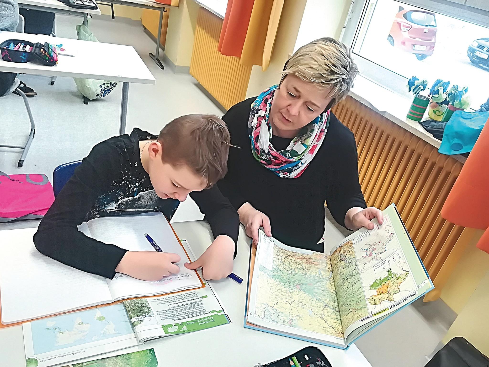 Hilfe bei den Hausaufgaben