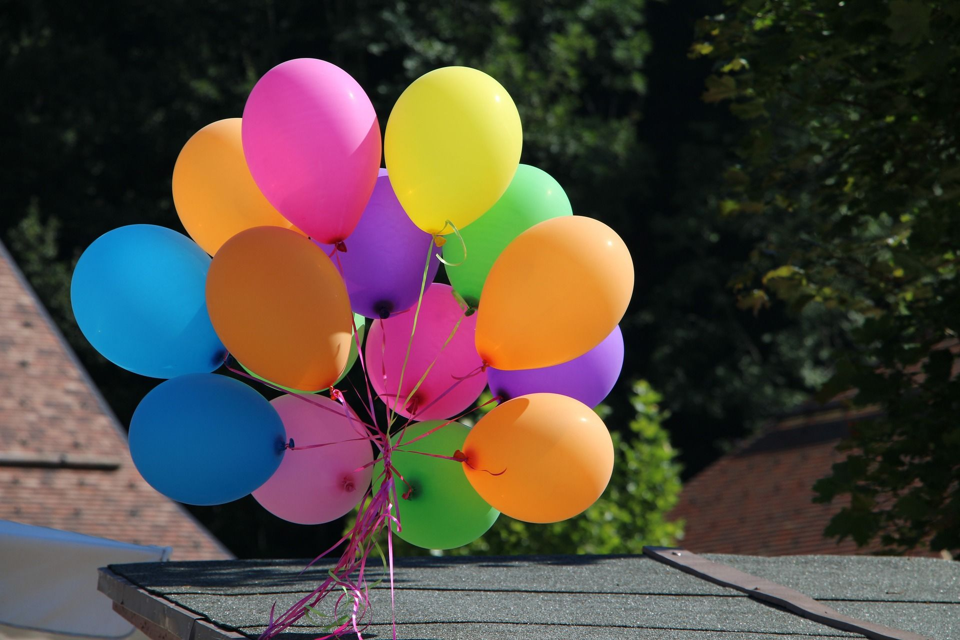 Luftballons in verschiedenen Farben