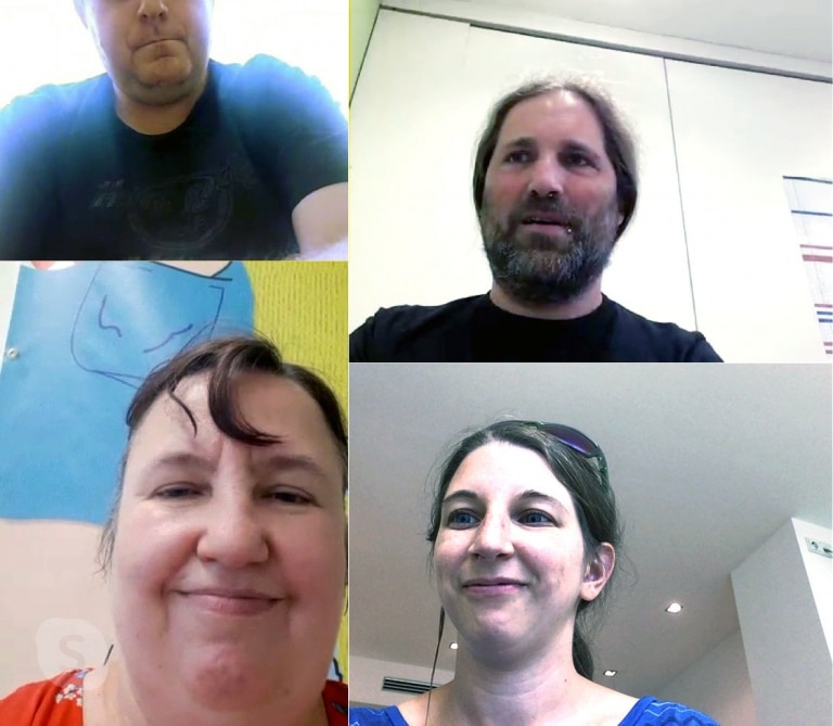 Inklusives Team - Team-Sitzung über Skype