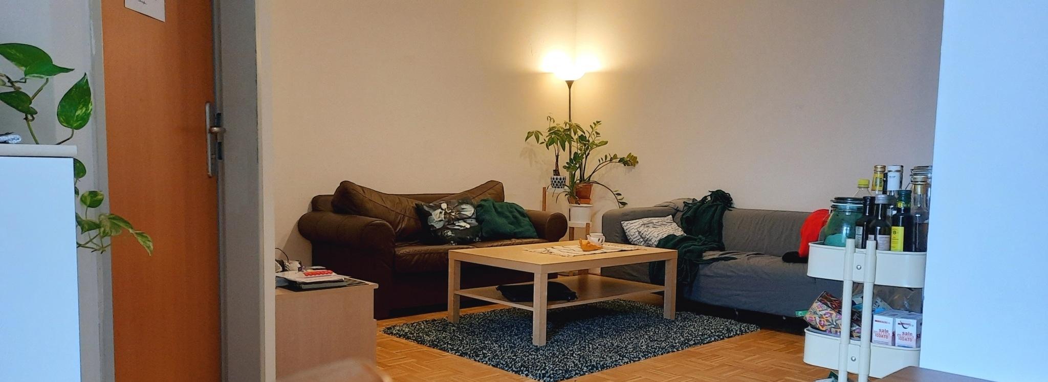 Wohnzimmer in einer Trainingswohnung