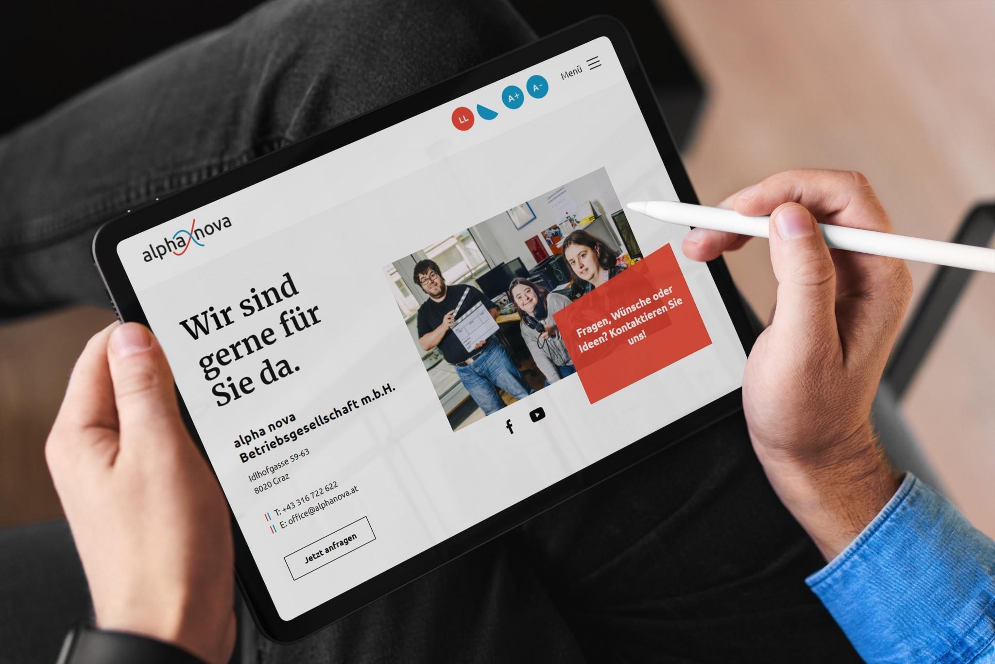 Foto der Webseite