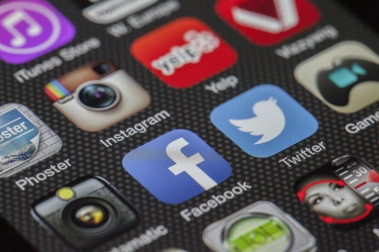 Icons Sozialer Medien